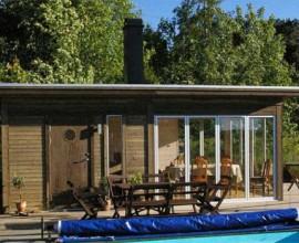 """Kenjo Friggebod, trädgårdsrum, bastu, poolhus, uterum, komplementhus på 25 kvm, sommarstuga eller varför inte ett """"tänkarrum"""" öppet för alla sinnen?"""