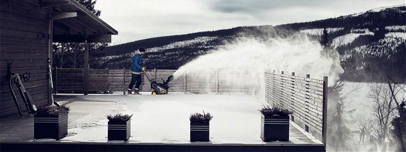 Snöslungor underlättar när snöstormen dragit fram