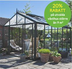 Skånska byggvaror kampanj på växthus