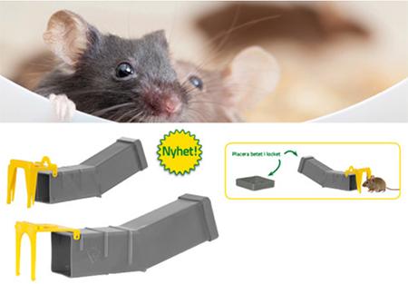 Levandefångstfälla för möss och råttor