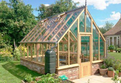 Orangeri i cederträ Garden & Greenhouse